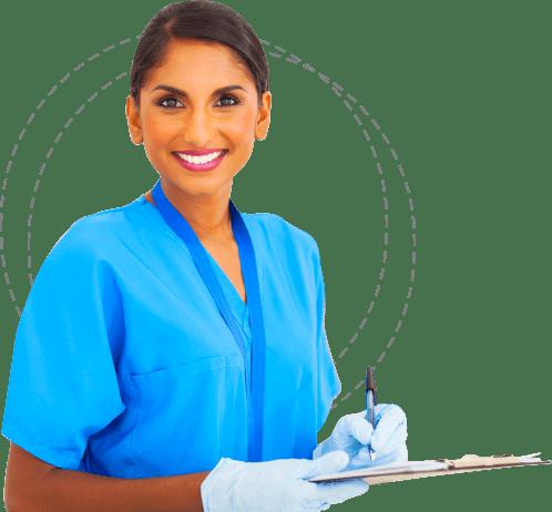 portrait of nurse smiling