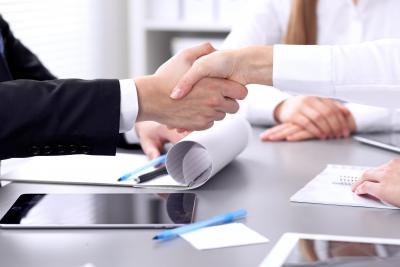 portrait of close up handshakes